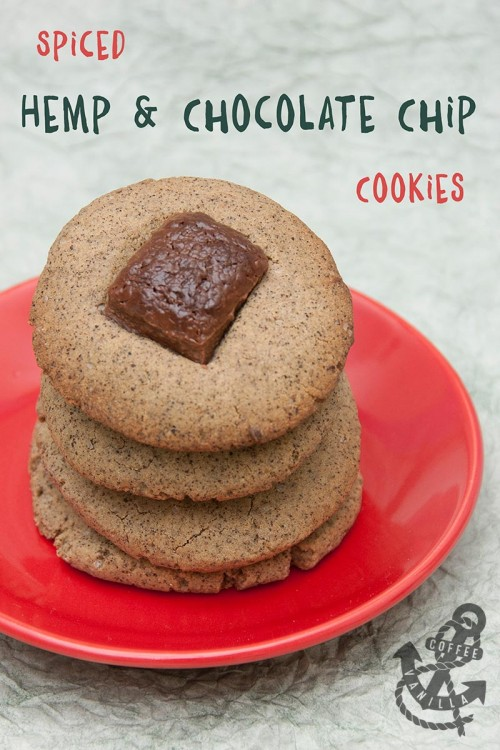 spiced hemp flour chocolate chip cookies gluten free recipe