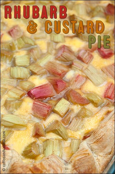 puff pastry rhubarb pie with custard