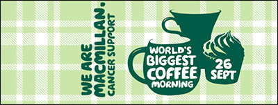 coffee morning 2014 date Macmillan cancer support when where how