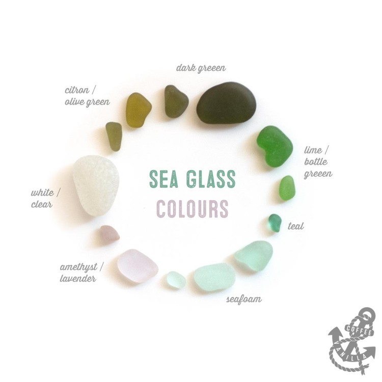 sea glass colors chart rarity value where to find beach glass