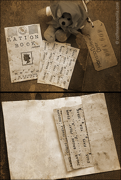 ww2 wwII ration book booklet rations DIY replica school kids children
