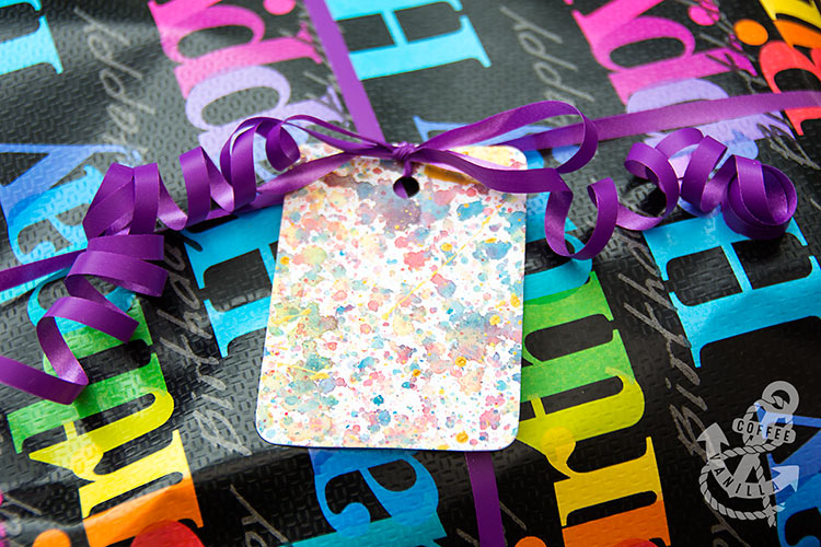 easy watercolour gift tags