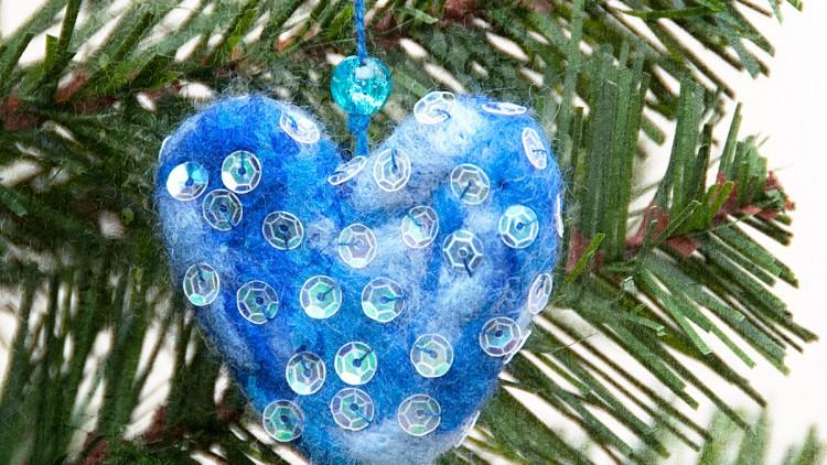 Handmade Needle Felted Christmas Tree Ornaments