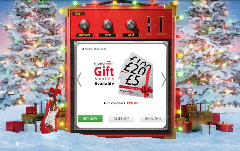 Music Room website and gift finder app