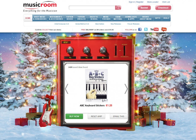 gift finder app from Music Room