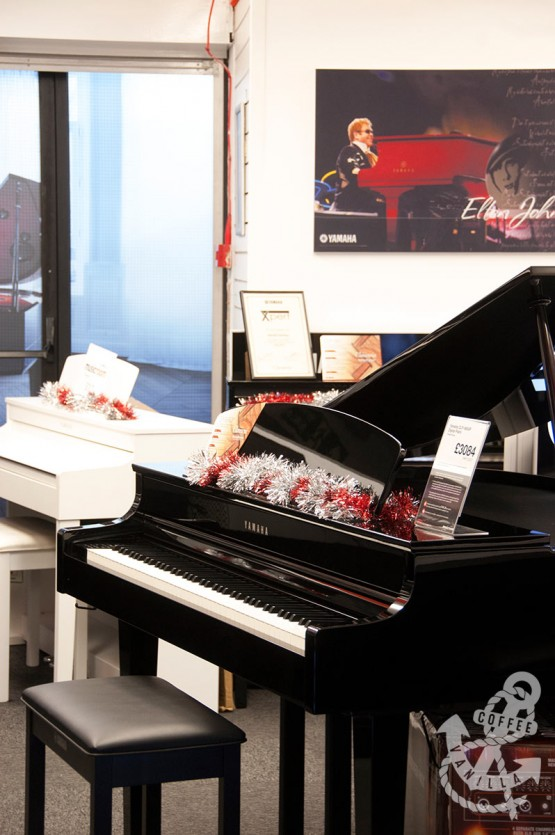 pianos in Music Room store