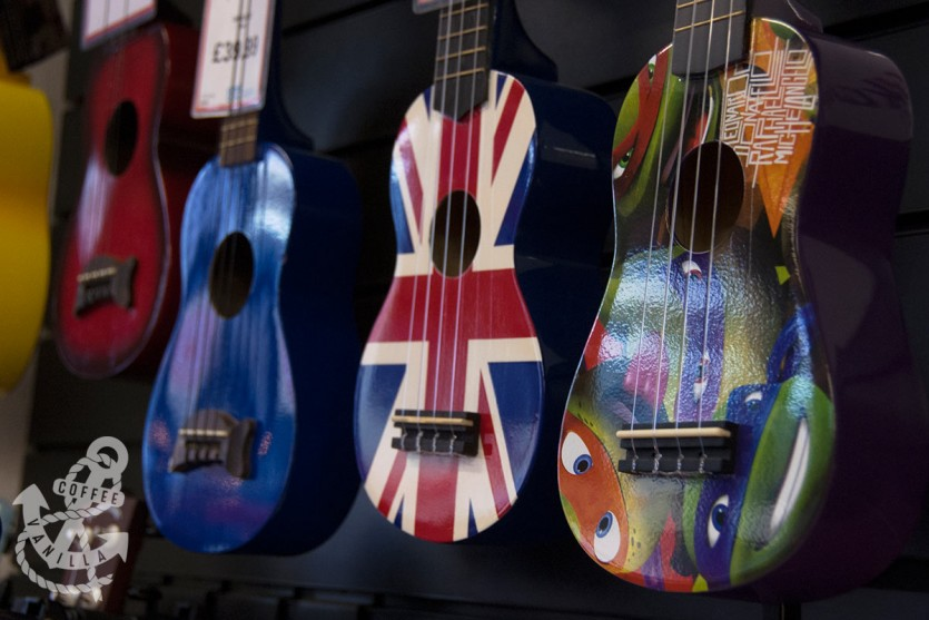 Stagg ukuleles at Music Room store