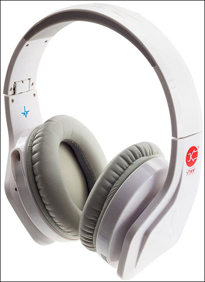 Wibe headphones with flat cable