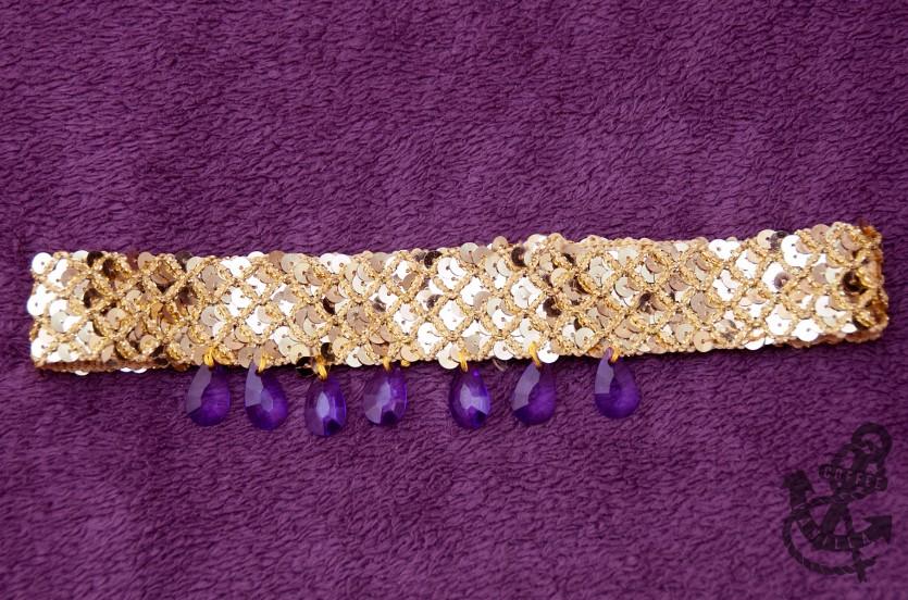 Arabian dancer golden hair band with jewels