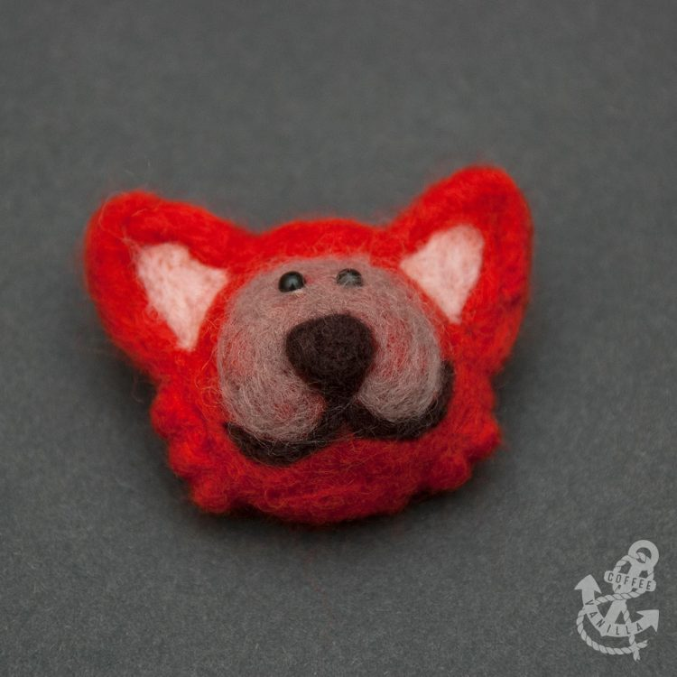 red fox brooch for sale