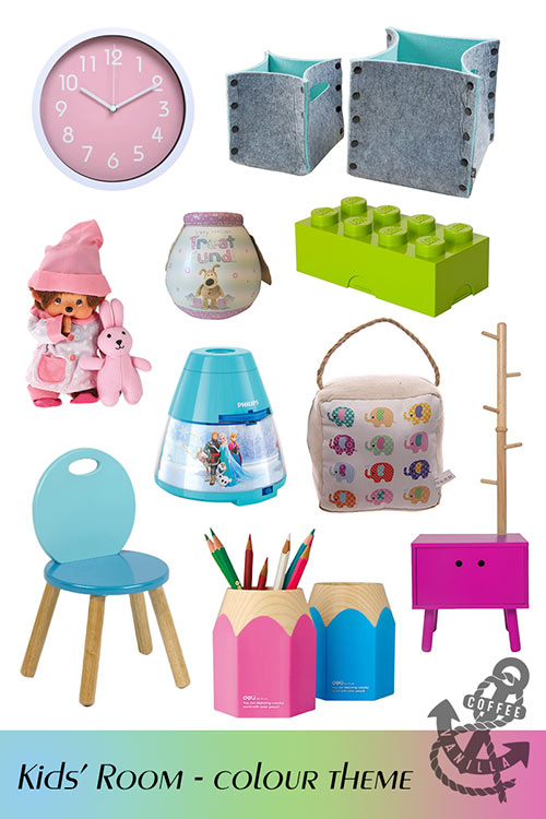 kids room decor ideas colour theme palette