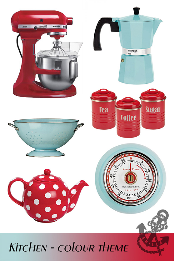 pastel sax blue retro postbox red gadgets for the kitchen