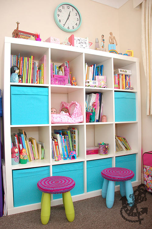 budget white cube shelves for kids
