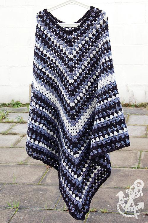 mens classic crochet poncho tutorial free pattern