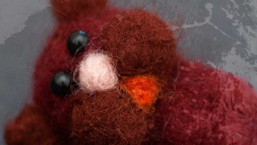 Miniature Dry Felted Hamster Brooches