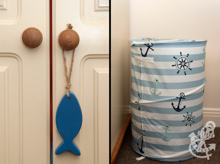 nautical home decor navy and white DIY ideas
