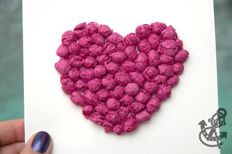 3d heart card diy