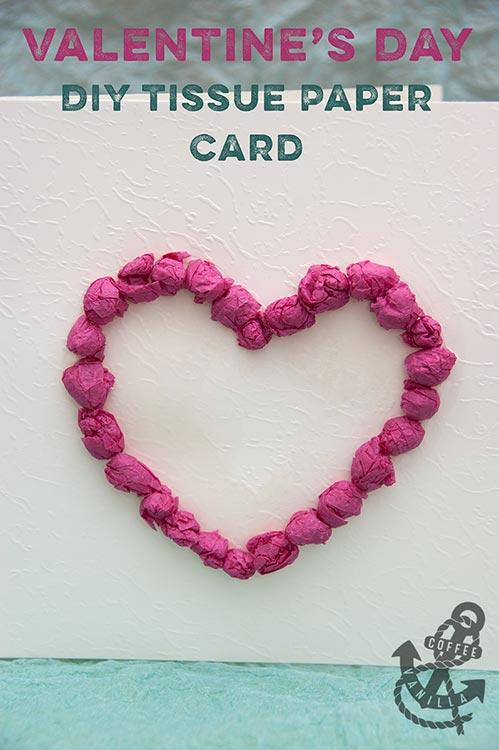 tissue paper valentine craft