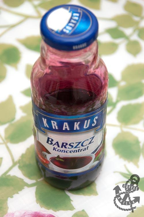 Krakus barszcz czerwony red borscht soup from concentrate