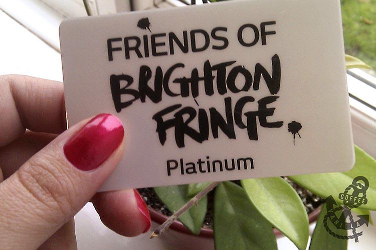 Brighton Fringe platinum card supporter membership