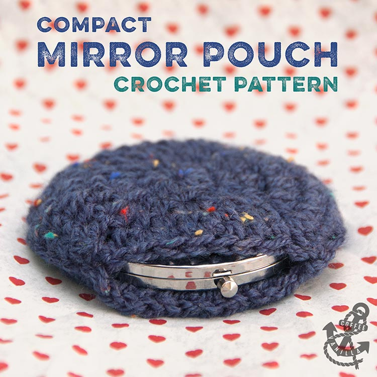 free crochet pattern for compact mirror pouch case