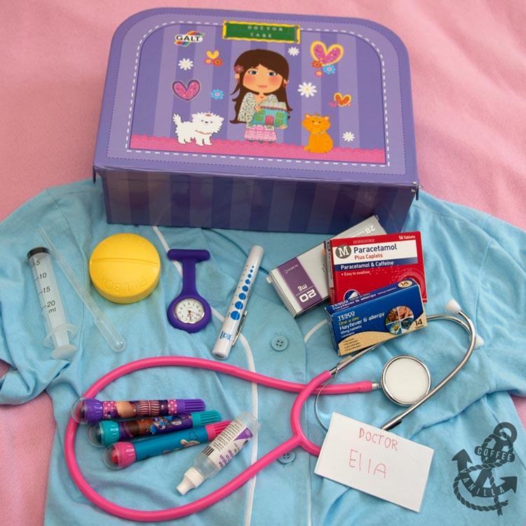 DIY doctor role playing set kit case