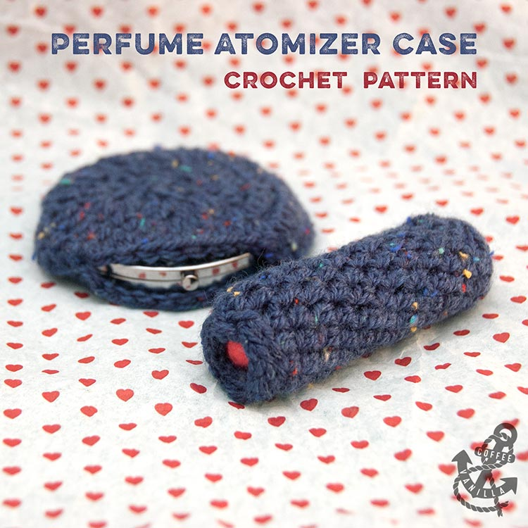 easy DIY perfume atomizer pouch free crochet pattern