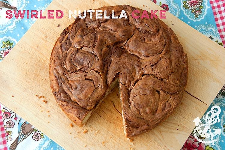 Nutella cake recipe Nutella swirl cake