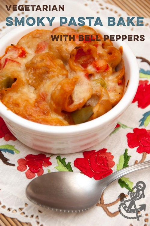vegetable pasta bake vegetarian recipe with fajita seasoning bell peppers