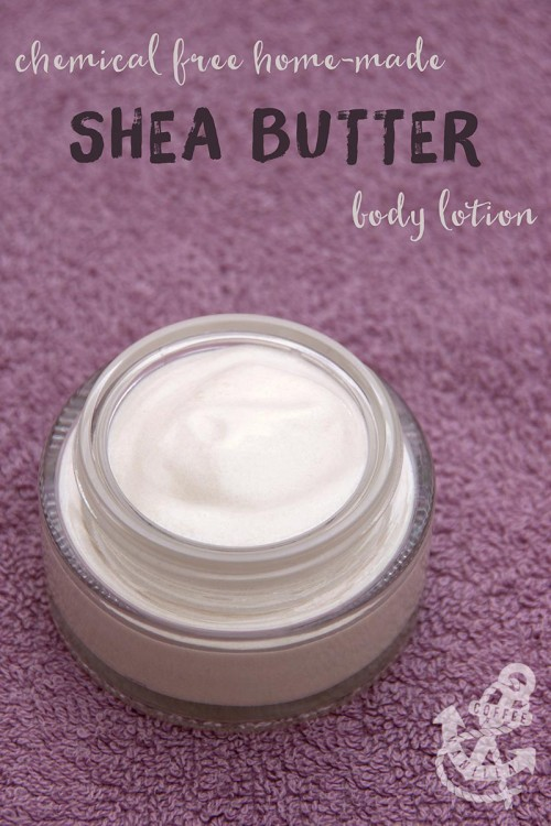 making shea butter cream