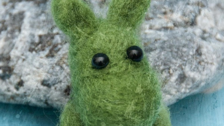 Needle Felted Moomintroll Brooch