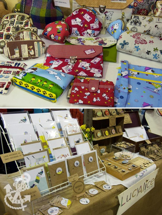 Lucy Alice Designs at the craft vintage fair in Brighton and My Cotton House with Snoopy themed accessories