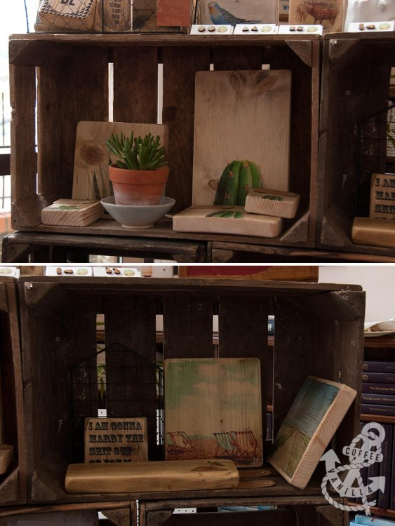 Photographic Prints on Wood at the Brighton craft fair near Patcham clock tower