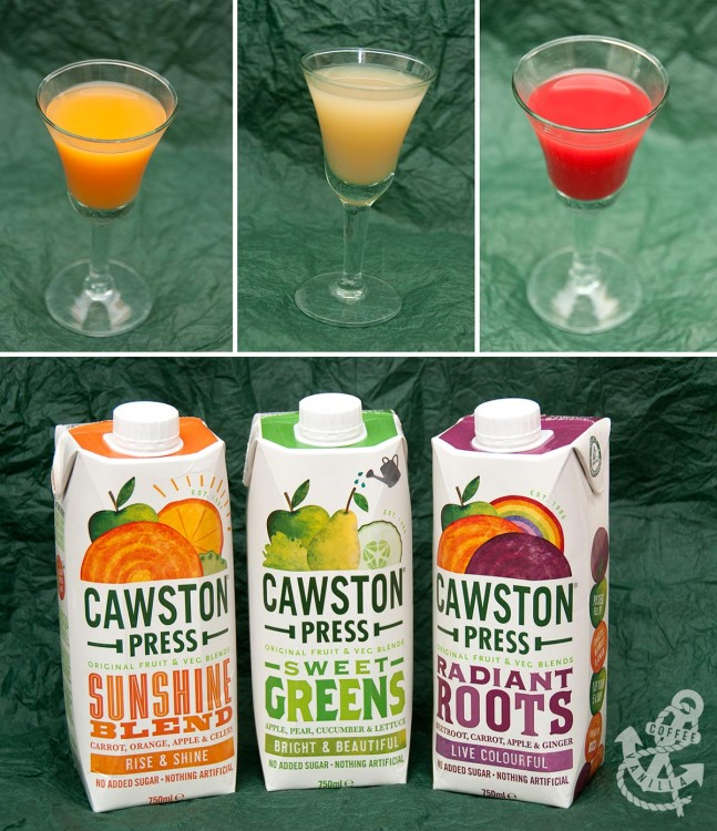 fruit and vegetable juice blends from Cawston