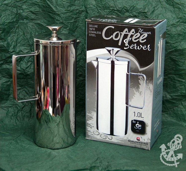 French coffee press stainless steel coffee maker