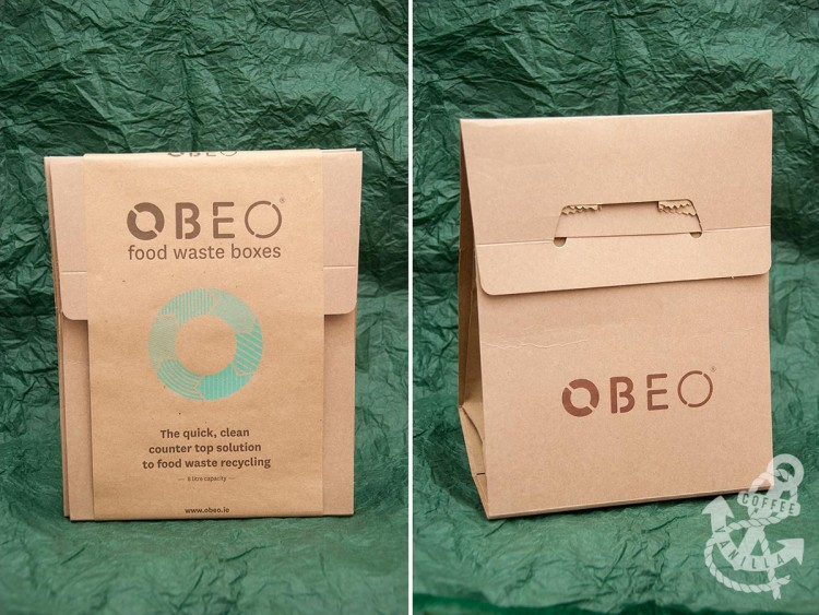 food waste boxes made from cardboard
