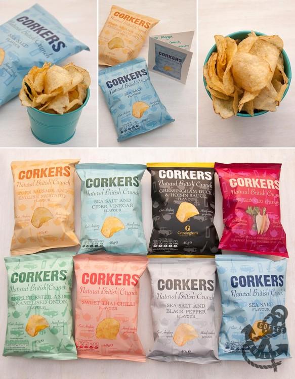 Corkers potato crisps vegetable crisps