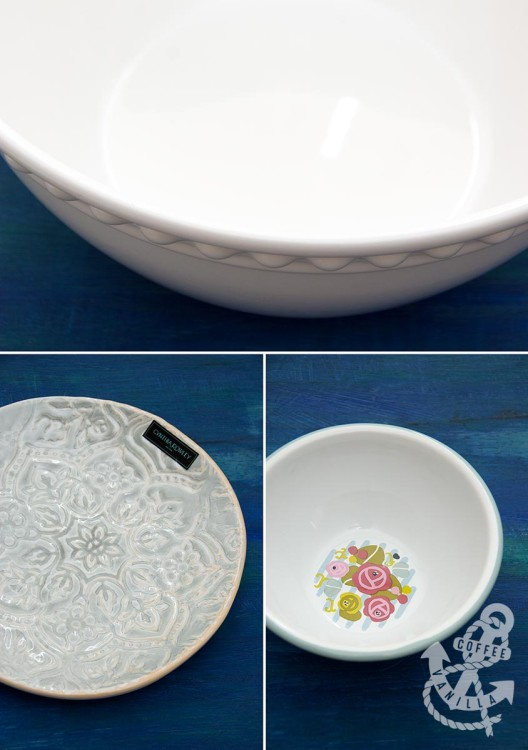 HomeSense crockery plates bowls melamine enamel