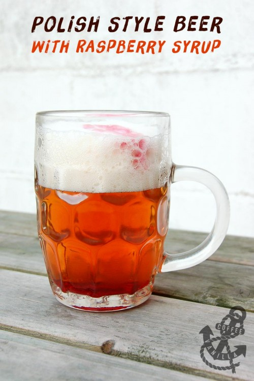 beer polish style with juice with syrup