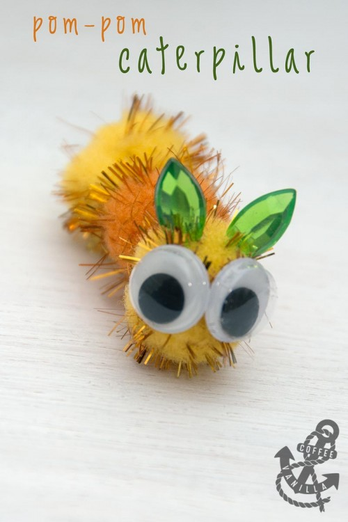 cute creatures made out of pompoms caterpillar egg heads eggs