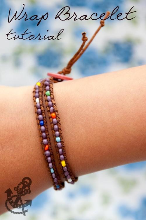 how to make leather wrap bracelets