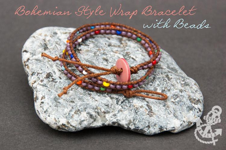 wrap bracelet tutorial step by step