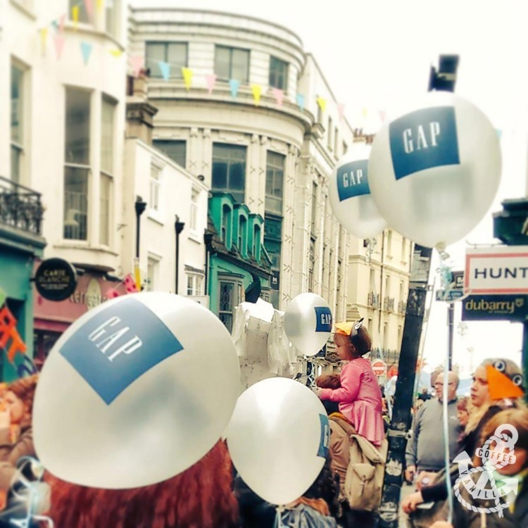 Brighton Children's Parade and GAP balloons