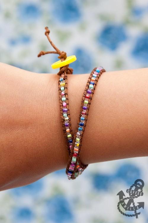 neon bead bracelet tutorial