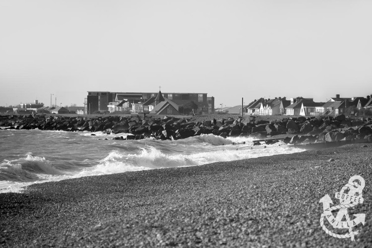 Shoreham beach Shoreham by Sea church