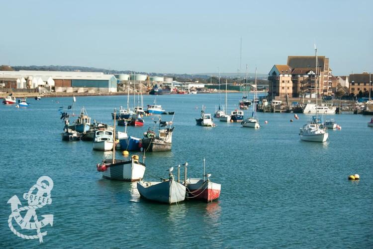 Shoreham by Sea harbour port on Adur River
