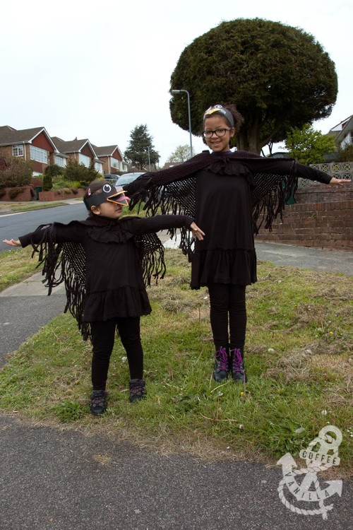 DIY blackbird outfits