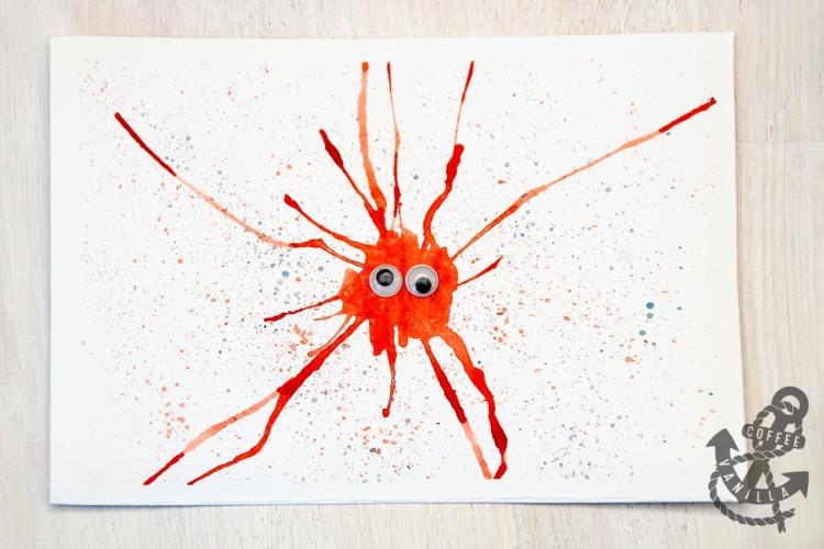 splashes splatters watercolour techniques