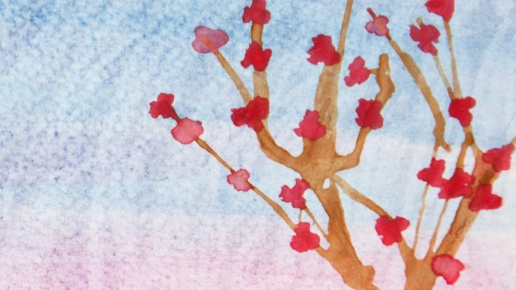 Watercolour Straw Technique Trees – Kids' Crafts