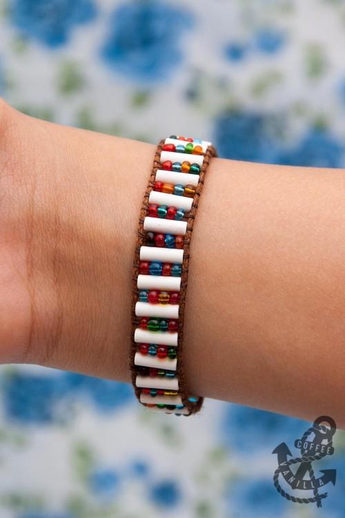 wide wrap bracelet tutorial patterns DIY